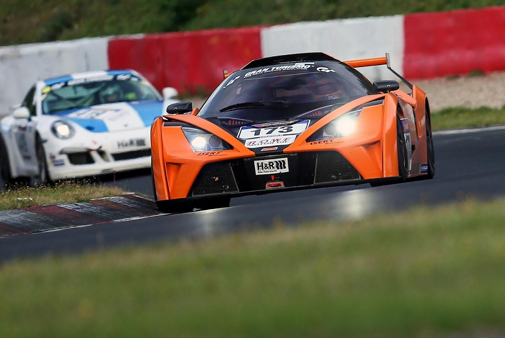 ktm x-bow gt4 at the nordschleife