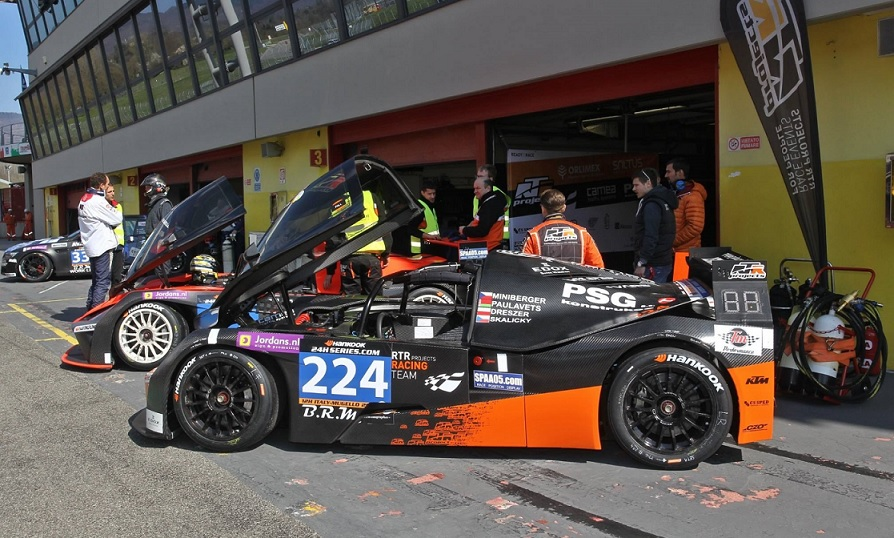 KTM X-BOW GT4 in the pit lane